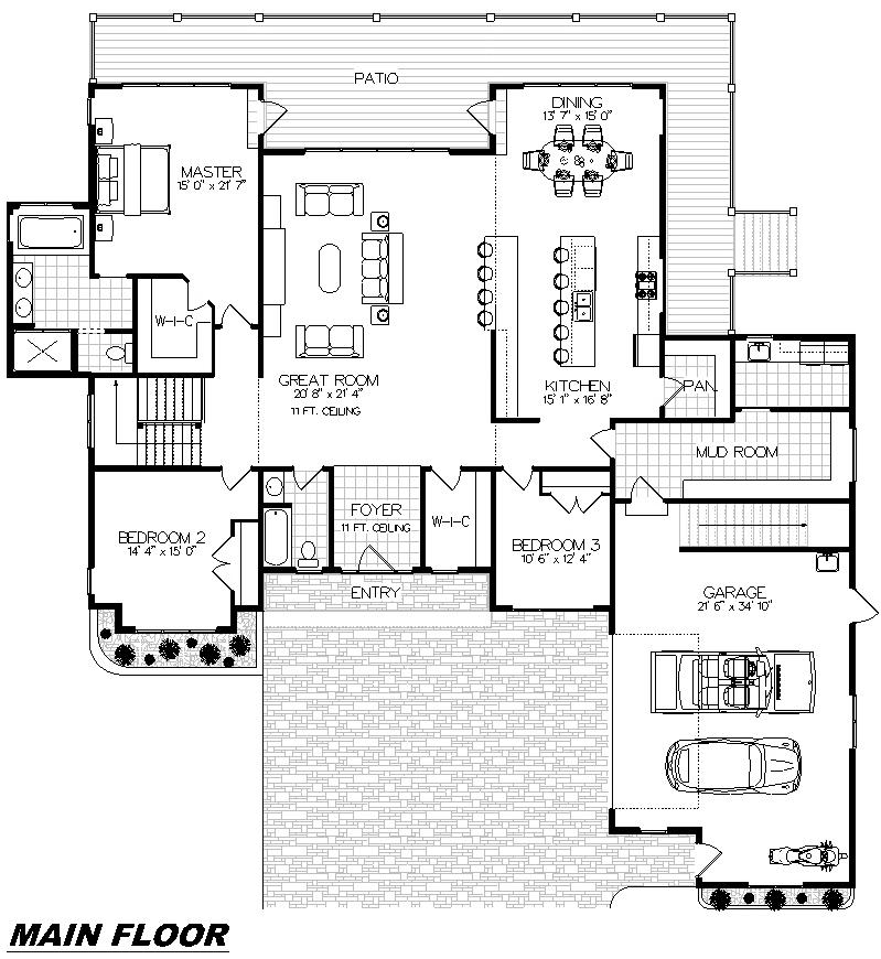 Plan 1001 Main Floor