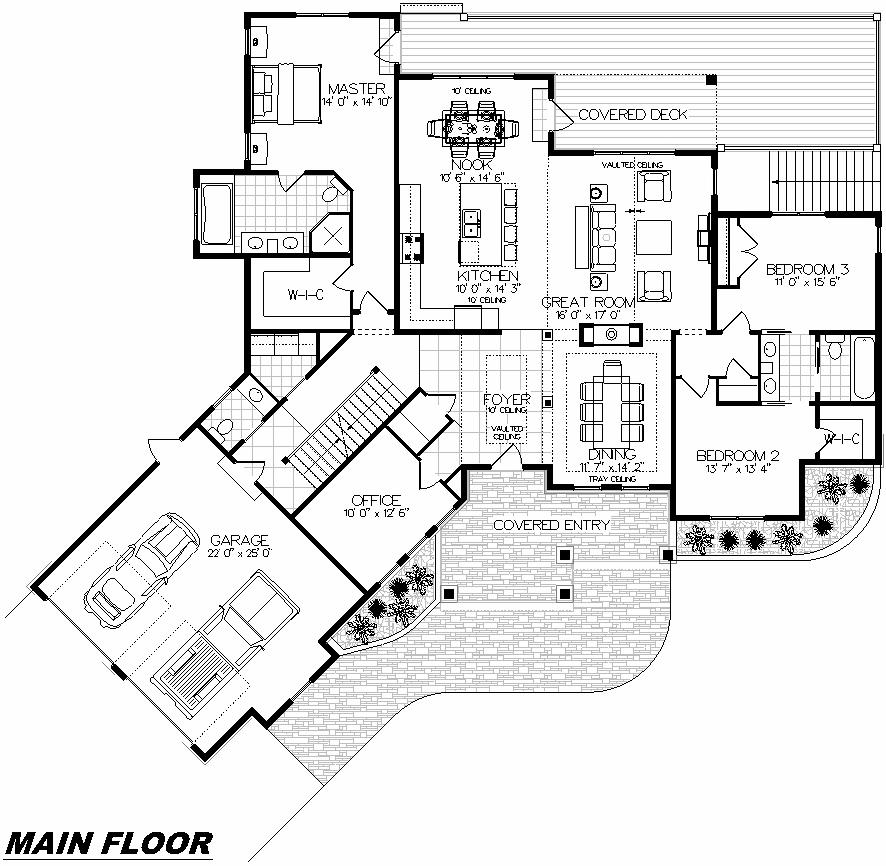 Plan 1003 Main Floor