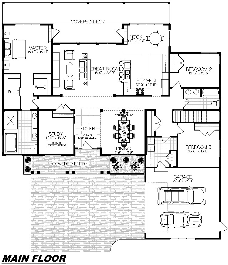 Plan 1002 Main Floor