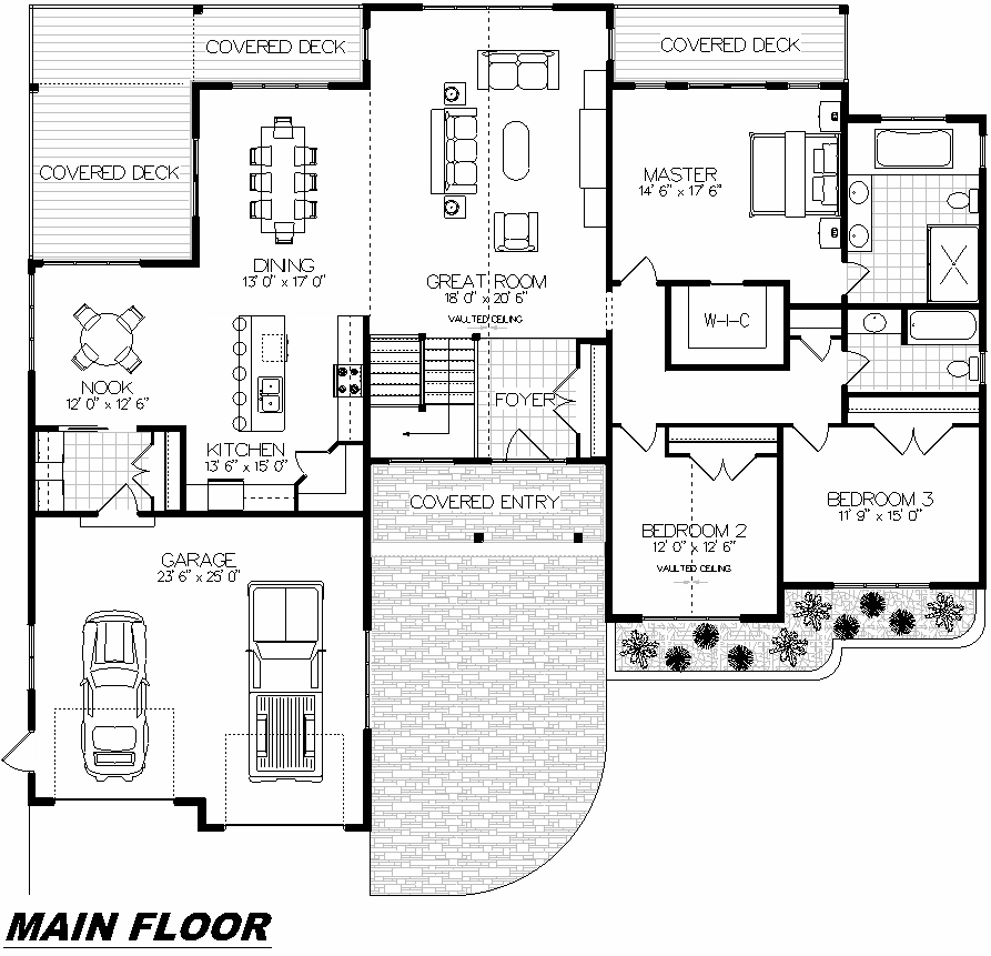 Plan 1005 Main Floor
