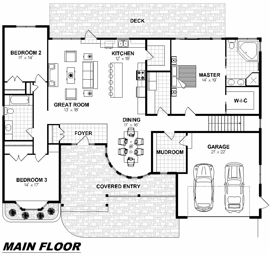 Plan 1007 Main Floor