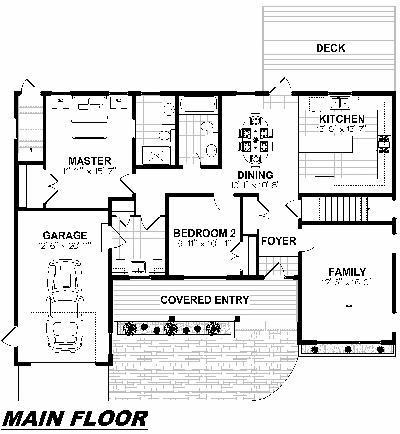Plan 1009 Main Floor