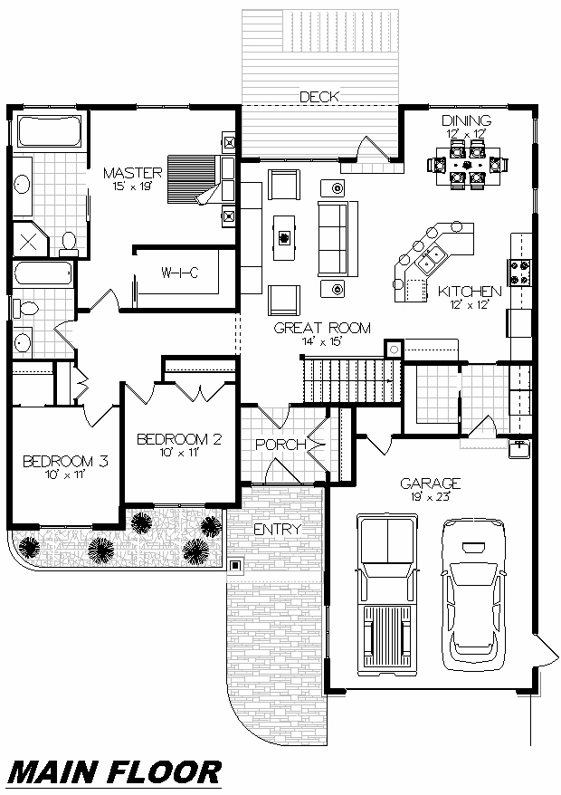 Plan 1011 Main Floor