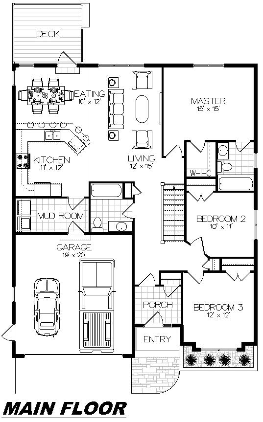 Plan 1012 Main Floor