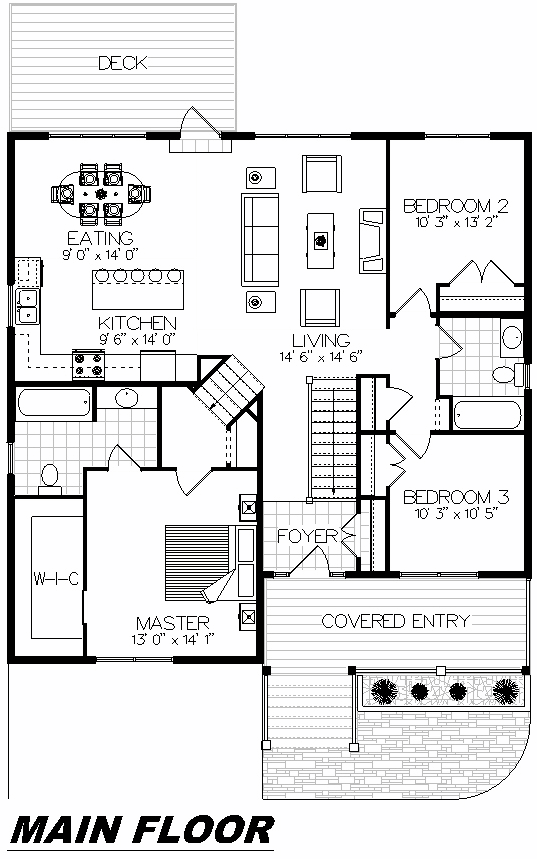 Plan 1013 Main Floor