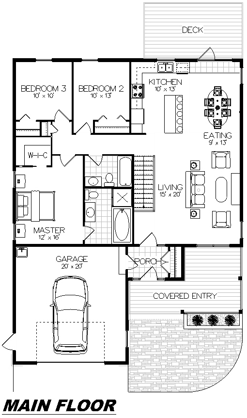 Plan 1014 Main Floor