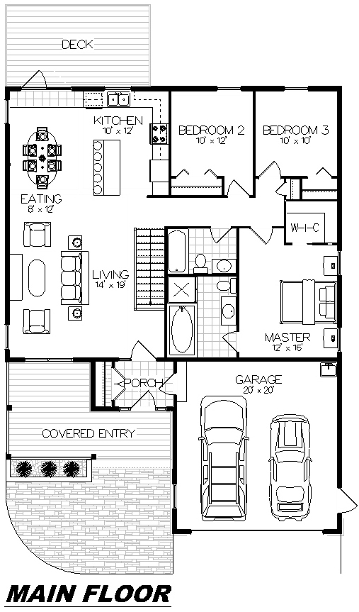 Plan 1015 Main Floor