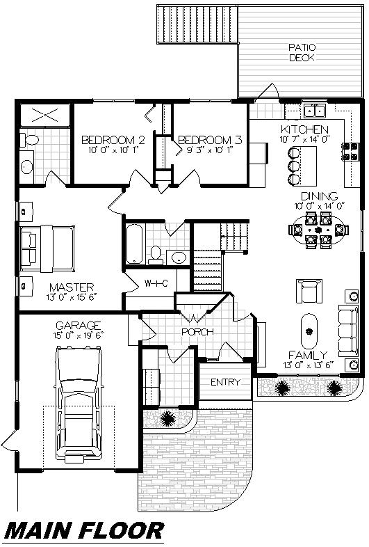 Plan 1018 Main Floor