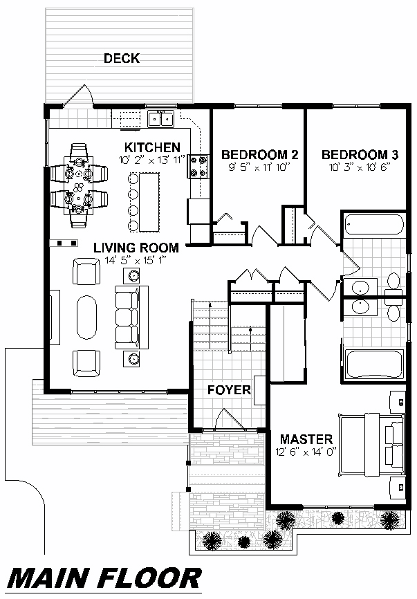 Plan 1020 Main Floor
