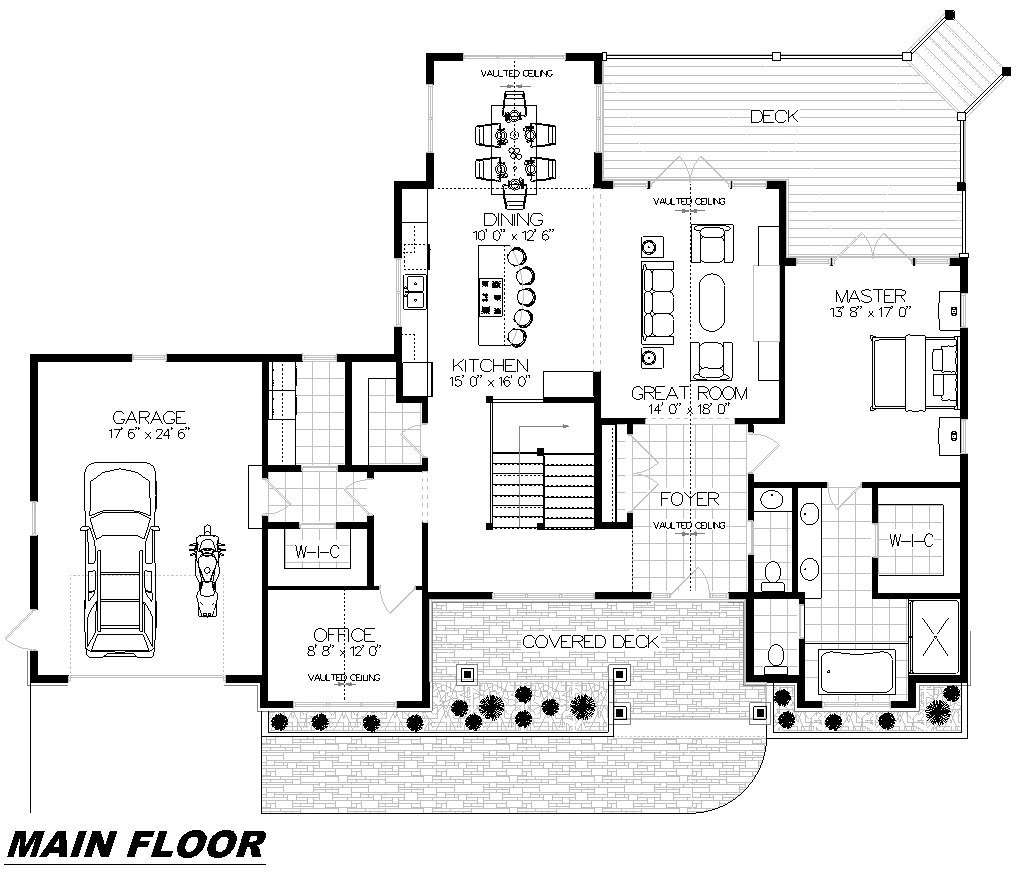Plan 1023 Main Floor