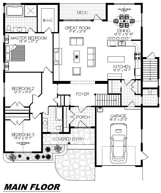 Plan 1028 Main Floor